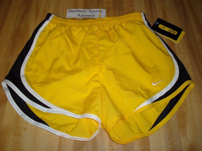 Nwt M NIKE Women Tempo Running Shorts New LIVESTRONG Medium 8 10 Dri-Fit Yellow 239930-703