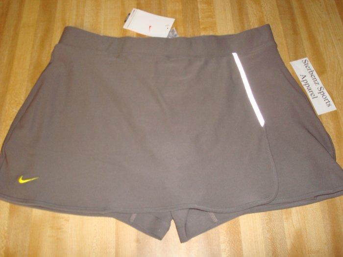 Nwt XL NIKE Women Fit Dry Adventure Running Skirt New Xlarge 16 18 Clay Brown Tennis Skort