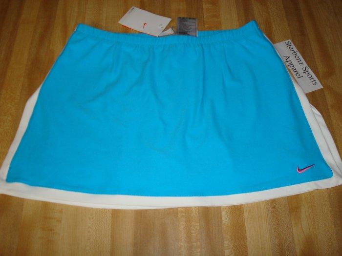 Nwt XL NIKE Women Fit Dry BORDER Tennis Skirt New $50 Xlarge 16 18 Blue White