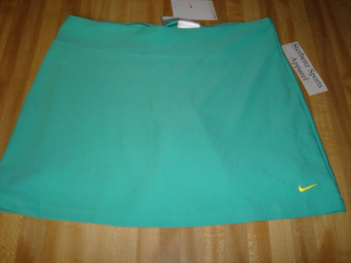 Nwt S 4 6 NIKE Women Fit Dry Power Tennis Skirt New $50 Small Azure Green