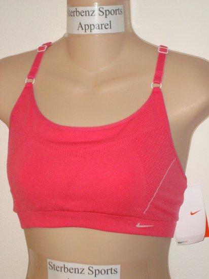 Nwt M L NIKE Women Fit Dry Seamless Sport Bra Top New Medium Large Flamingo Pink