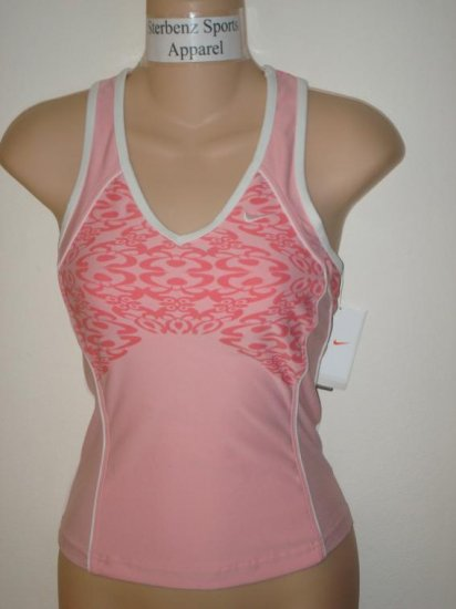 Nwt XS NIKE Women Fit Dry Strength Print Tank Top New Xsmall Pink