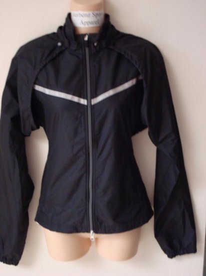 Nwt XL NIKE Women Convertible Running Jacket New $110 XLarge Black