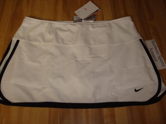 Nwt M NIKE Women Fit Dry CONTROL TEMPO Tennis Skirt New Medium White Black