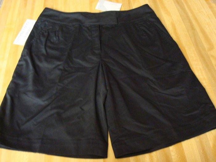Nwt 8 NIKE GOLF Women Dri-FIT Flat Front Shorts New Black