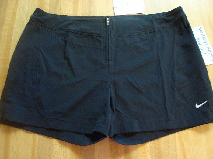 Nwt M NIKE Fit Dry Women Black Beach Shorts New $40 Medium 8 10
