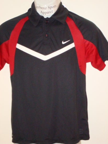 Nwt M NIKE Boys Fit Dry Control Tennis Polo Top New $38 Medium 243887-010