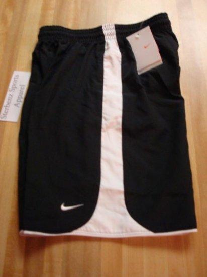 Nwt M 10-12 NIKE Boys Black Tiempo Fit Dry Shorts New Medium 128095-010