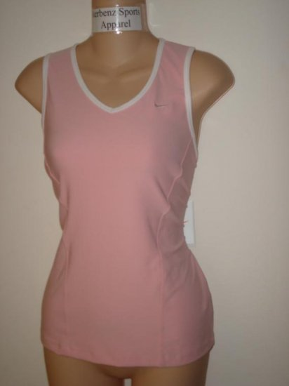 Nwt L NIKE Women Fit Dry Club Sleeveless Top Shirt New Sheen Pink Large 225647-627
