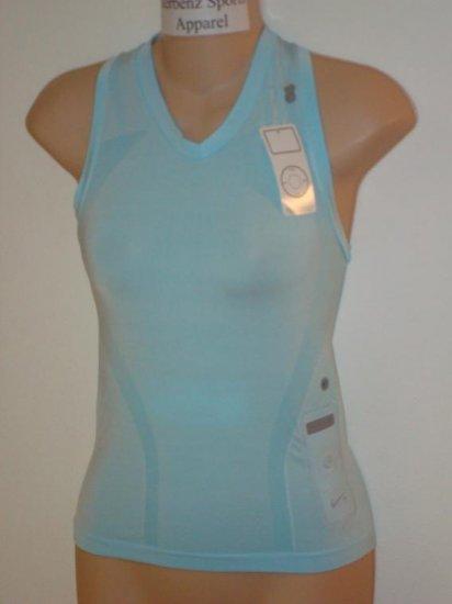 Nwt M NIKE+ Women Ipod Tight Running Top Shirt New $60 Medium 212465-431