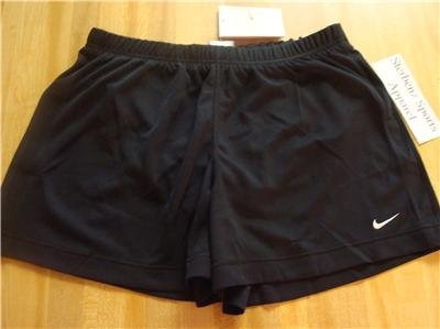 Nwt M 8-10 NIKE Women Fit Dry Black WorkOut Shorts New Medium 199830-010