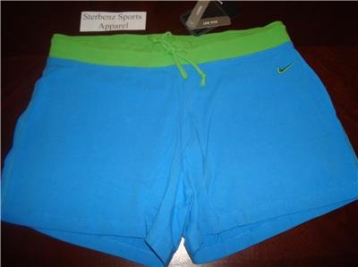 Nwt L 12-14 NIKE Women 2-in-1 WorkOut Shorts New Blue Large 127830-443