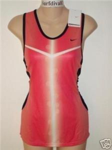 Nwt XL NIKE Dri-Fit Women Race Day Tank Top Shirt New XLarge Pink
