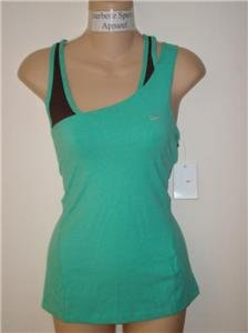 Nwt L NIKE Women Fit Dry Soy Layered Yoga Tank Top New Large 216932-417