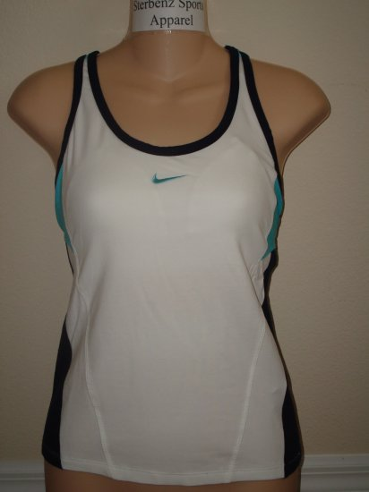 Nwt L NIKE Fit Dry Women Cardio Tennis Tank Top New $32 Large 227518-102