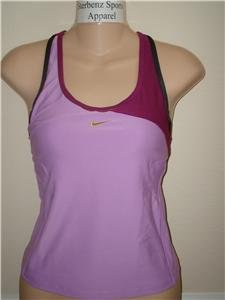 Nwt M NIKE Women Fit Dry Personal Best Velocity Top New Medium 249319-502