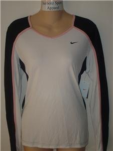 Nwt M NIKE Women Fit Dry Long-Slv Tempo Running Top New Medium 228610-104