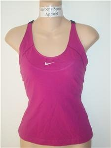 Nwt L NIKE Women Fitness Racer Tank Top Shirt New Pink Large 127827-678