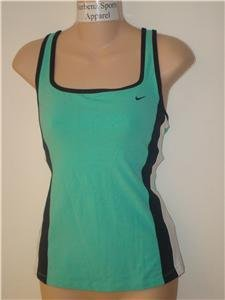 Nwt L NIKE Women Azure Cross-Back Fitness Tank Top New Large 298122-417