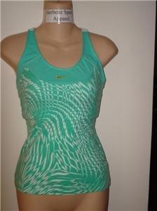 Nwt M NIKE Women Fashion Print Azure Tank Top Shirt New Medium 207476-417