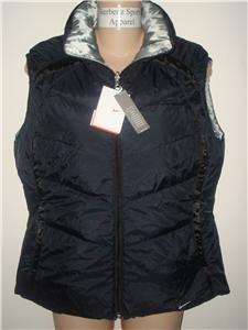 Nwt M NIKE Women Reversible Down With It Vest Top New Medium 213331-010
