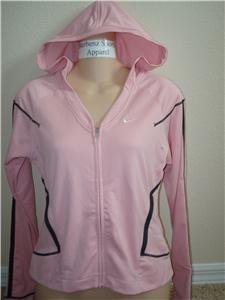 Nwt L 12-14 NIKE Women Fit Dry Hoody Fitness Jacket New Large 227603-627