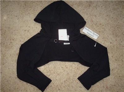 Nwt XL NIKE Women Fit Dry Dance Hoody Shrug Top New $60 XLarge 227623-010