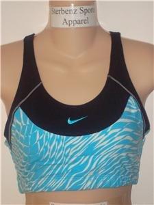 Nwt M 8-10 NIKE Women Pattern Fitness Sport Bra Top New Medium 207175-011