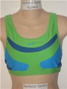 Nwt M NIKE Women Fit Dry Velocity Sport Bra Top New $38 Medium 127775-343