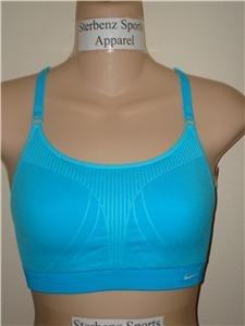 Nwt M/L NIKE Women Fit Dry Sport Bra Fitness Top New Medium Large 127824-463