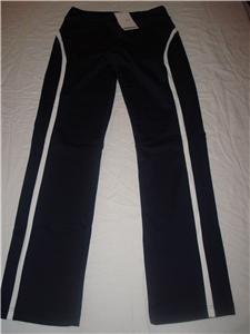 Nwt XS NIKE Fit Dry Women Border Tennis Pants New Navy Xsmall 256226-476