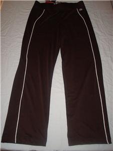 Nwt M NIKE Women Fit Dry Brown Fitness Pants New Tennis Medium 245543-234