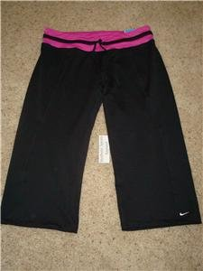Nwt L NIKE Women Fit Dry Enthusiast Capri Pants New $45 Large 227504-011