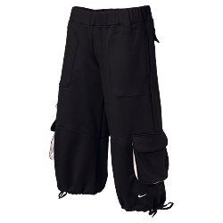 Nwt L NIKE Women Fit Dry Dance Beat Capri Pants New Gry Large 207386-061