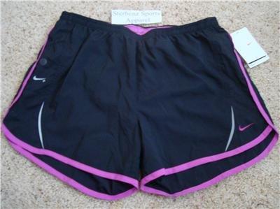 Nwt M NIKE+ Women Fit Dry Ipod Running Shorts New Black Medium 257731-010