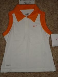 Nwt S NIKE Girls Fit Dry Aced Tennis Polo Tank Top New Small 106971-104