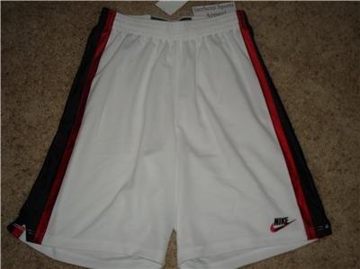 Nwt L NIKE Mens White Basketball Fitness Shorts New Large 228285-100