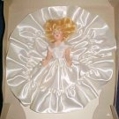 "Vintage Hard Plastic 7"" Fashion Bride Doll White Satin Dress Sleep Eyes Blonde Hair Original Box"
