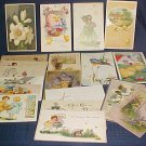 19 Easter Postcards 1910-1930's Tuck & German, Paris - Children, Bunnies, Chicks