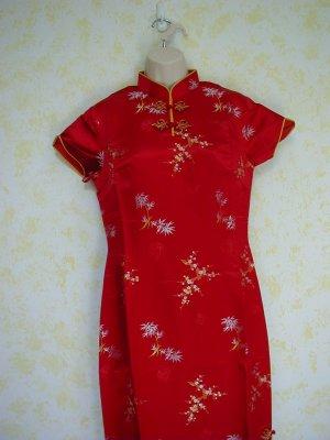 Japanese sexy red silk dress, Vintage, never worn.