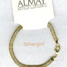 "Almay 7 1/2"" Hypo-Allergenic Gold Plate Bracelet"
