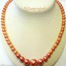 Redone 2 Tone Vintage Imitation Pearl Gold Tone Beaded Necklace