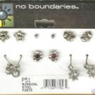 6 Pairs No Boundaries Mixed Silver Plate Earrings