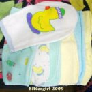 New to You Set of Baby Face Cloths and Wash Mitt