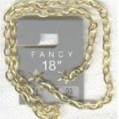 "FANCY 18"" Gold Plate Oval Flat Link Chain"