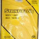 Golden Yellow Stanfield Men's T-Shirt Size L