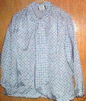 Southern Lady Grey Multi  Patterned  Blouse  SZ 18