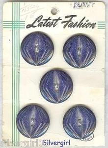 Latest Fashion Vintage Navy Round Flower Buttons