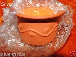 Apricot Scented Candle In A Terracotta Jar