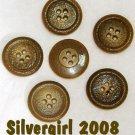 4 Hole Kaiki Green Round Plastic Vintage Buttons